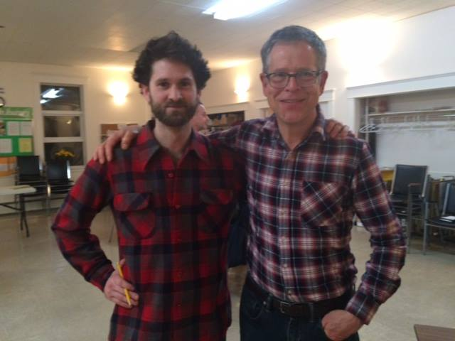 "Mark Worthing and Ben Parfitt in Powell River for ""Are Forests Forever?"""