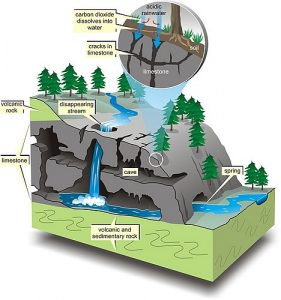 Karst diagram courtesy of Vancouver Island University