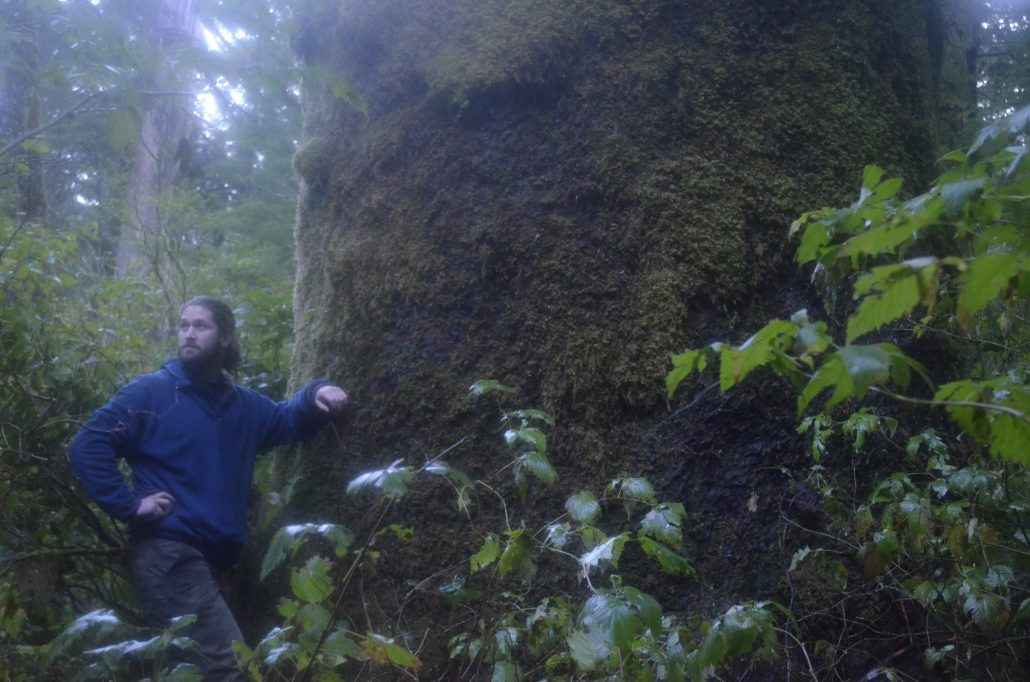Mark in East Creek, photo by Mark Worthing