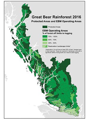 Great Bear Rainforest Map Vision Realized in the Great Bear Rainforest   Sierra Club BC
