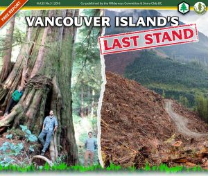 Vancouver Island's Last Stand newspaper_pg1