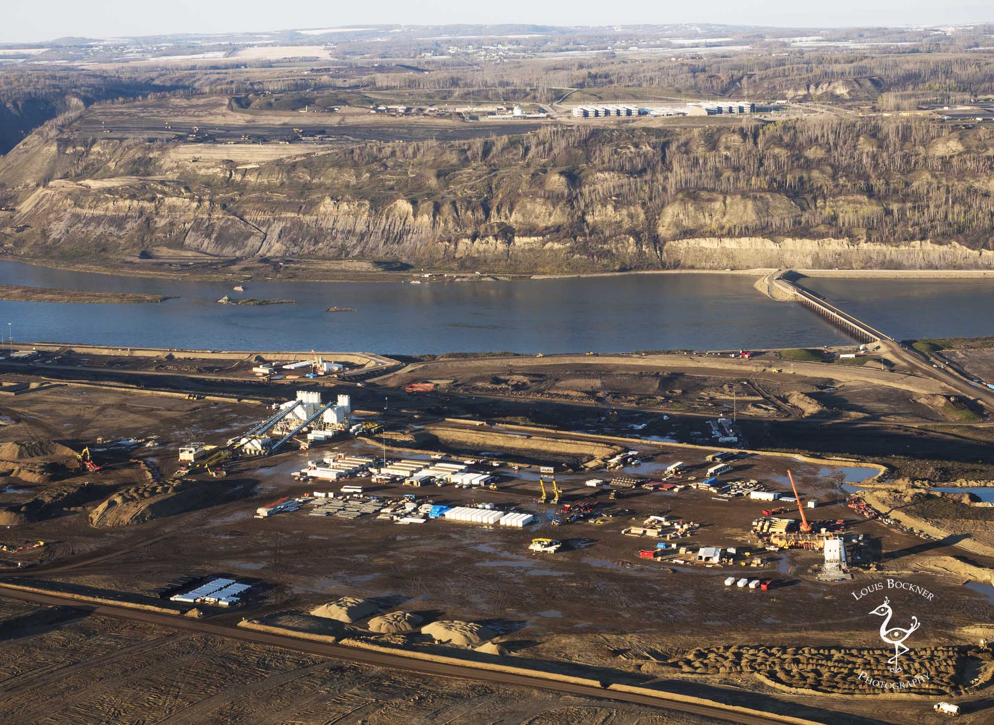 Site C dam construction camp. Photo by Louis Bockner.