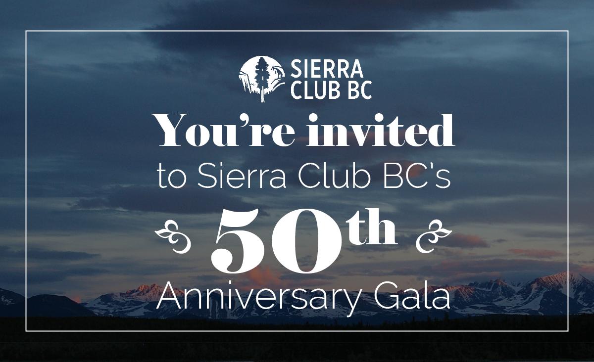 victoria, gala, 50th gala, anniversary, sierraclubbc, sierra club bc