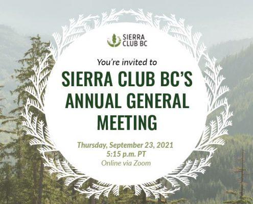 Sierra Club BC Annual General Meeting 2021