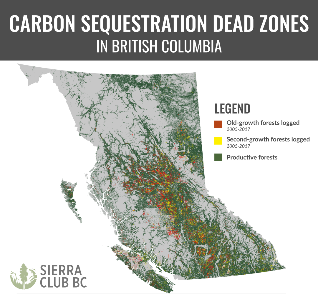 Carbon sequestration dead zone map