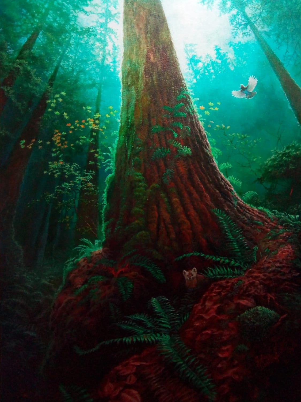 Old-growth ecosystem by Julius Csotonyi
