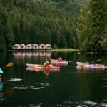 nimmo bay resort, nimmo bay, kayak, wilderness lodge, wilderness resort, kayaking