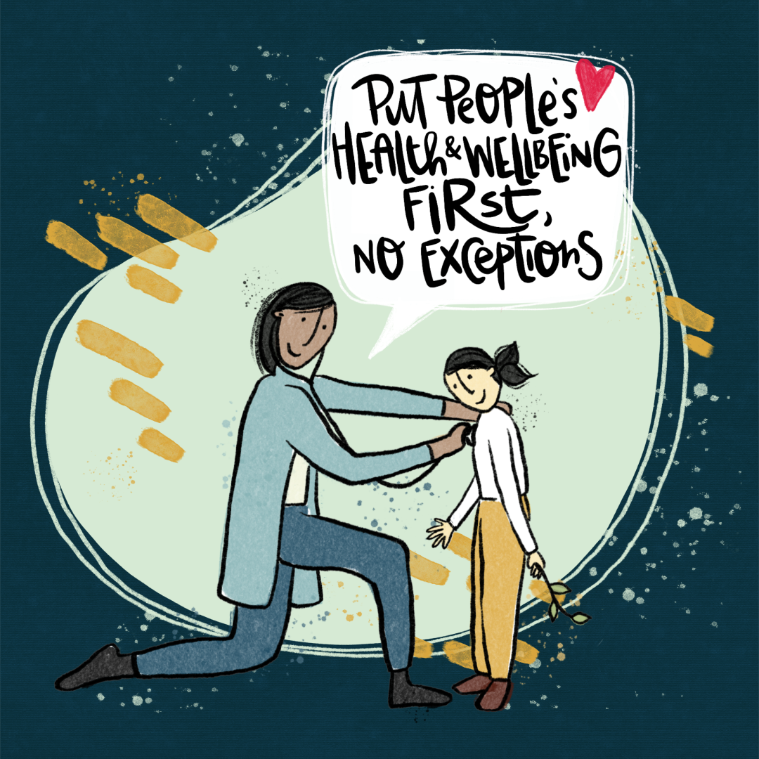 Just Recovery Principle 1: Put people's health and wellbeing first, no exceptions