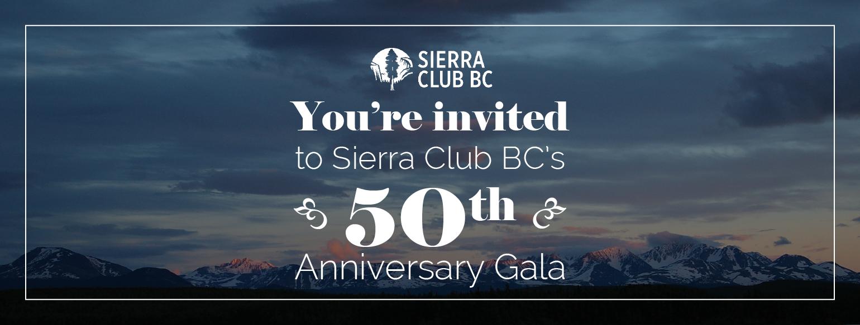 Sierra Club BC, 50th anniversary, SCBC, gala, victoria