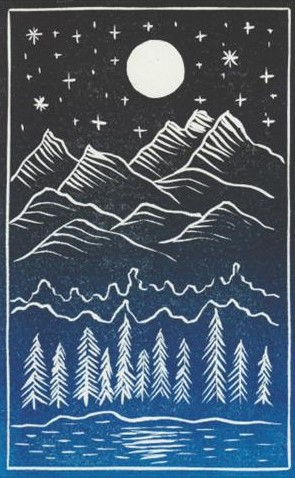 Mountain forest print